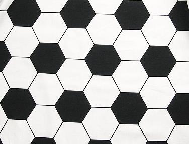 baumwollstoff fu ball muster schwarz wei ca 140 cm breit fussballstoff s w 111 89. Black Bedroom Furniture Sets. Home Design Ideas