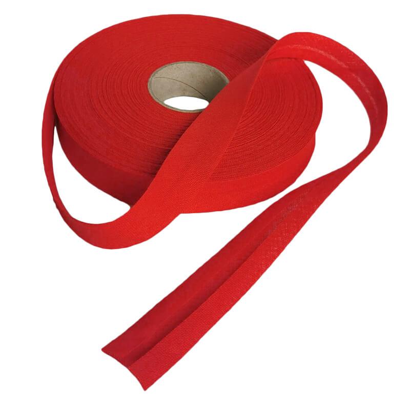 20 mm Baumwolle 1 Meter in Rot Schrägband Einfaßband Gefalzt Breite 40 mm