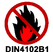 Schwer entflammbar nach DIN4102B1