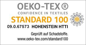 Oekotex Standard 100 zertifiziert